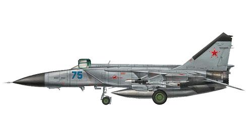 MiG-25 Foxbat, Fuerza Aérea de la URSS, 1980.