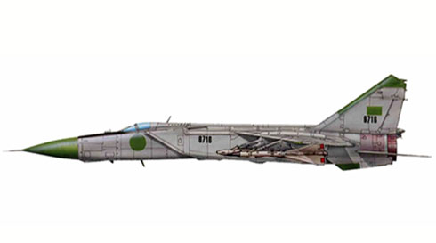 MiG-25 PD Foxbat, Fuerza Aérea de la República Arabe de Libia,