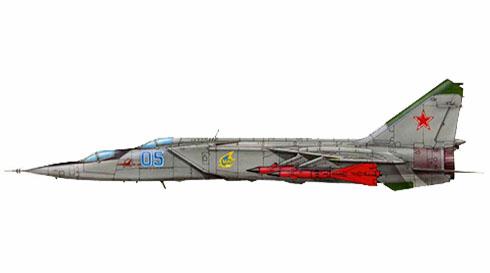 MiG-25 PU Foxbat, Fuerza Aérea de la URSS, 1979.