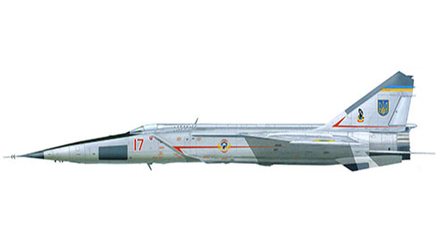MIG-25 RBS Foxbat, 48º OGRAP, Ukranian Air Force, 2001.