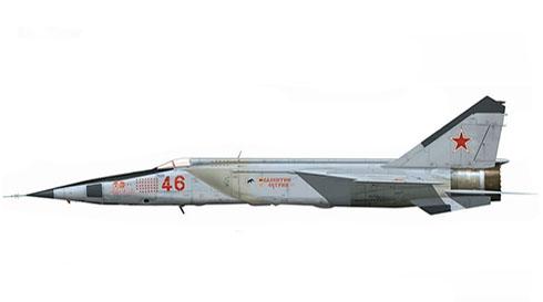 MiG-25 RBT Foxbat, Fuerza Aérea Rusa, 2001.