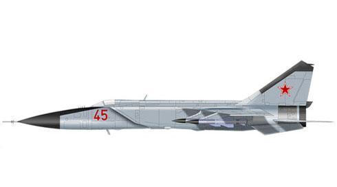 Mikoyan-Gurevich MIG-25 M Foxbat, URSS Air Force.