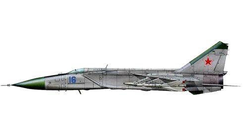 Mikoyan-Gurevich MiG-25 P Foxbat, Fuerza Aérea de la URSS, 1977.