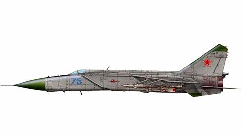 Mikoyan-Gurevich MiG-25 PD Foxbat, Fuerza Aérea de la URSS, 1979.