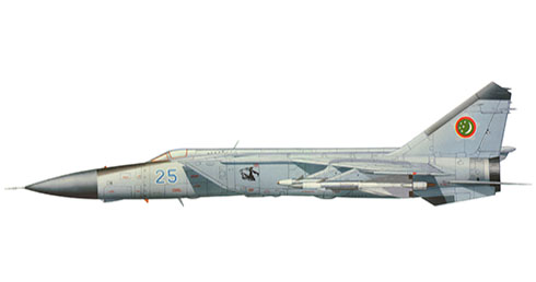 Mikoyan-Gurevich MIG-25 PD Foxbat, Fuerza Aérea de Turkmenistán.