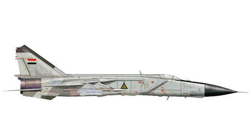 Mikoyan-Gurevich MiG-25 PD Foxbatde la Fuerza Aérea de Irak capturado en la Operación Allied Force.