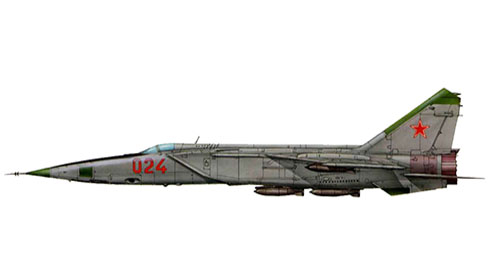 Mikoyan-Gurevich MiG-25 RB, Fuerza Aérea de la URSS, 1970.