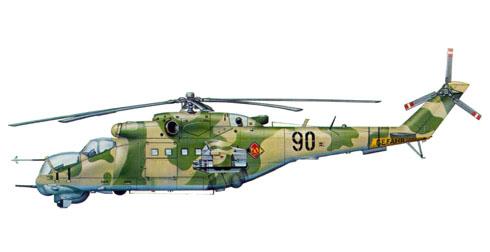 Mil MI-24 D Hind, Base aérea de Cottbus, Alemania del Este, 1985.