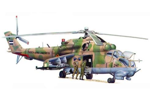 Mil Mi-24 D Hind, Fuerza Aérea Sandinista, Managua, Nicaragua, 1986.