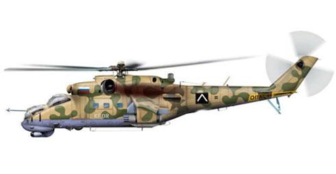 Mil MI-24 P Hind, Destacamento KFOR, Federación Rusa, 2000.