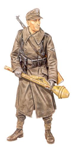 Soldados, Uniformes y Escenas de la Segunda Guerra Mundial (Dibujos y Pinturas) Soldado-de-infanteria-30c2aa-division-de-infanteria-de-la-waffen-ss-frente-del-rin-invierno-de-1944