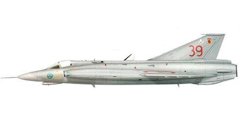 Saabb J-35 J Draken, Fuerza Aérea Sueca, 1989.