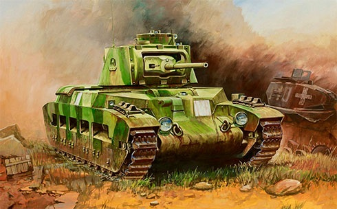 Tanque de Infantería Británico Matilda Mk.II, en algún lugar de Europa.