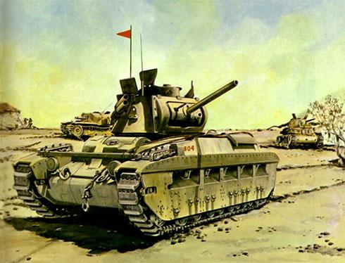 Tanque de infanteria Matilda Mk.II, Norte de Africa, 1942.
