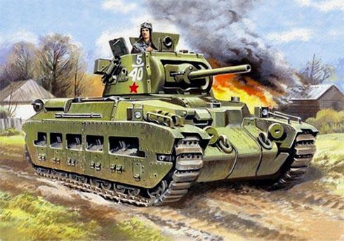 Tanque Mk. II Matilda Soviético, 5º Cuerpo mecanizado, Frente Suroeste, primavera de 1943.