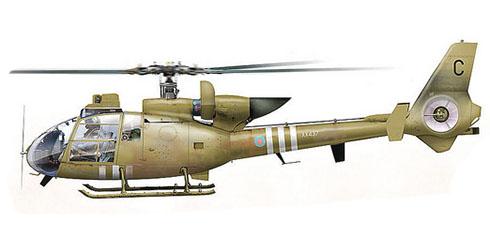 Westland Gazelle AH Mk.1, Cuerpo Aéreo del Ejército Británico, Irak, 1991.