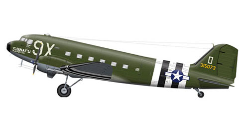 Douglas C-47A Skytrain, U.S. Air Force, 1944.