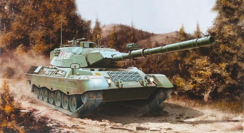 Leopard 1 A5, perteneciente a las KFOR, Kosovo, 1999.