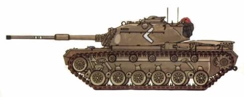 M-48 A4 modificado de un M-48 A3, Israel, Guerra de Yom Kippur, Octubre de 1973.