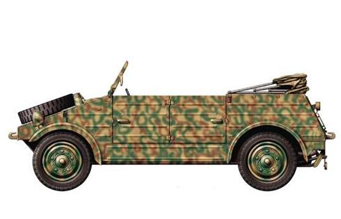 Kúbelwagen type 82, Cassino, Italia, 1943.