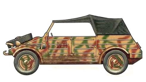 Kübelwagen Type 82, 94º División de Infantería, Cassino 1944.