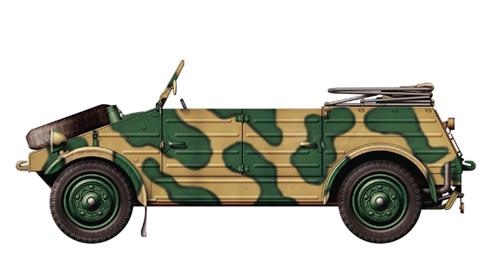 Kübelwagen Type 82, Francia, verano de 1942.