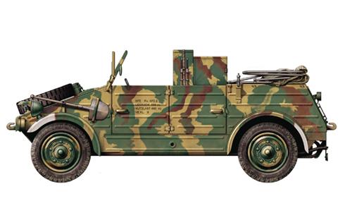 Kübelwagen type 82, Frente del Este, primavera de 1943.