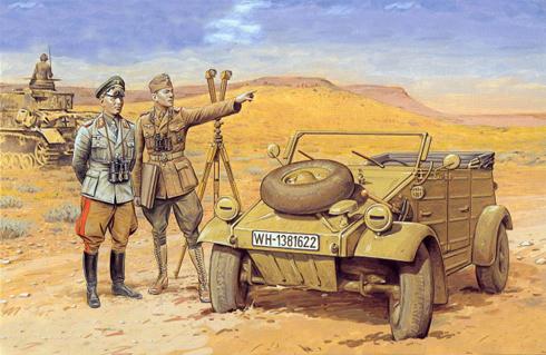 Kübelwagen Type 82, Generalfeldmarschall Erwin Rommel, Deutsches Afrika Korps.