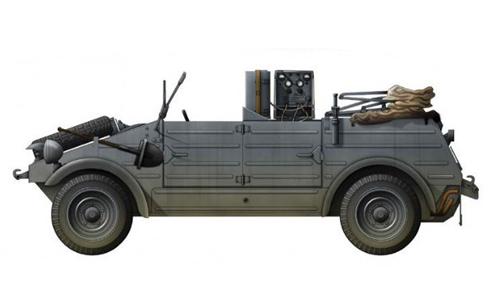Kübelwagen Type 82, vehículo transmisiones.