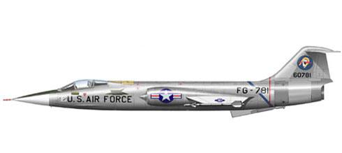 Lockheed F-104 A Starfighter, U.S. Air Force, 1960.