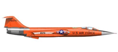 Lockheed F-104 A Starfighter, U.S. Air Force.