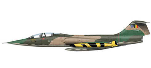 Lockheed F-104 G Starfighter, 31º Squadron FBS, Belgian Air Force