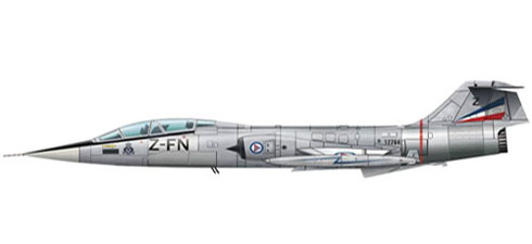 Lockheed F-104 G Starfighter, 331º Skv, Royal Norwegian Air Force, Base aérea de Bodo, 1970.