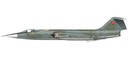 Lockheed F-104 Starfighter, Turkish Air Force.