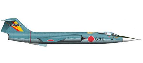 Lockheed-Mitsubishi F-104 J Starfighter, 202º Hikotai, 5º Kokudan, Japan Air Self-Defence Force, 1980.