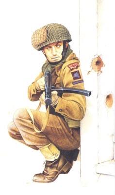 Soldados, Uniformes y Escenas de la Segunda Guerra Mundial (Dibujos y Pinturas) Paracaidista-ingles-2c2ba-batallon-regimiento-south-staffords-arnhem-1944