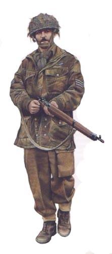 Soldados, Uniformes y Escenas de la Segunda Guerra Mundial (Dibujos y Pinturas) Sargento-britanico-1c2aa-division-aerotransportada-arhem-1944