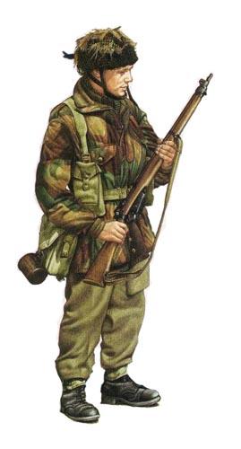 Soldados, Uniformes y Escenas de la Segunda Guerra Mundial (Dibujos y Pinturas) Soldado-paracaidista-de-la-1c2aa-div-aerotransportada-britanica-arnhem-1944