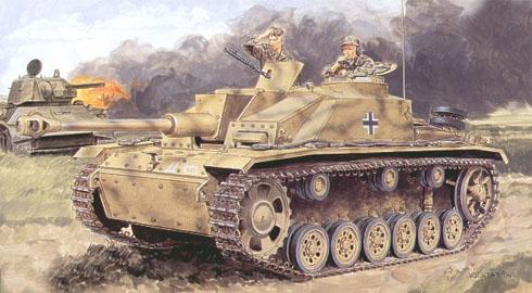 Stug III modelo G, Francia, verano de 1944.