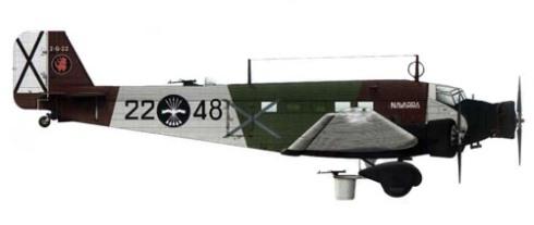 Junkers Ju 52-3m g3e, Fuerza Aérea Nacional, 1937