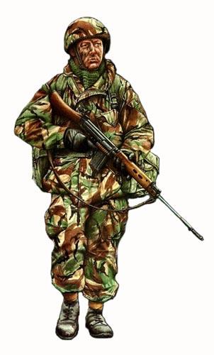 Soldado, 3er. Batallón, Regimiento Paracaidista, Falkland Islands ...