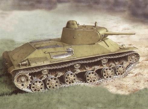 Carro de combate ligero soviético T-50, Leningrado, verano de 1943.