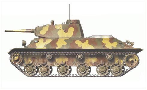 Carro de combate ligero T-50, 1ª Div. Ejército Rojo, Leningrado, verano de 1941.