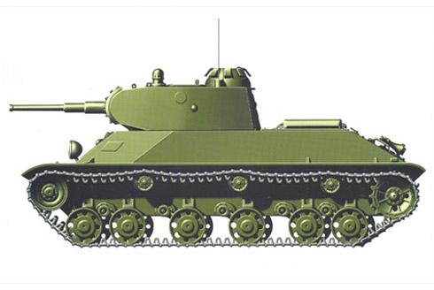Carro de combate ligero T-50, área de Petrozavodsk, verano de 1943