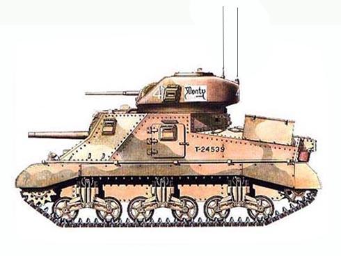 El M-3 Grant del General Montgomery llamado 'Monty', Carro de mando de Montgomery, Cuartel General de 8º Ejército,