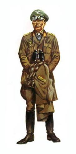 General der Panzertruppe Erwin Rommel, Africa, 1942.