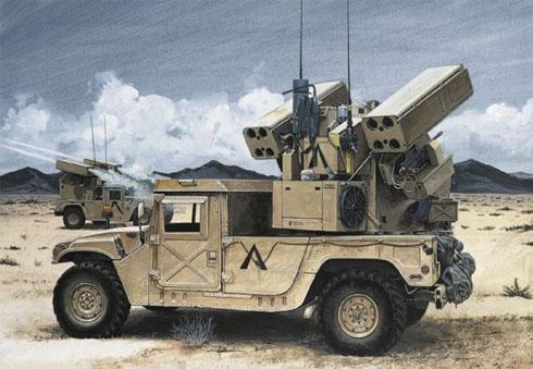 Hummer equipado con misiles Avenger.