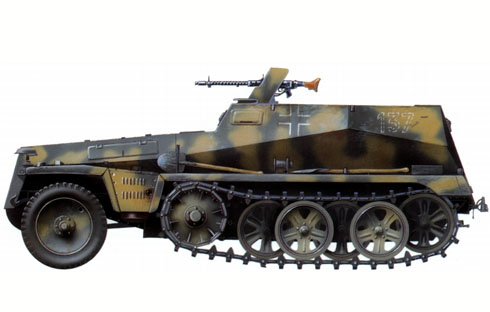 Sonderkraftfahrzeug (Sd Kfz) 250-1, Norte de Africa, 1942.