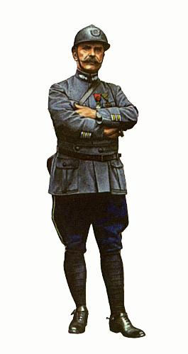 Coronel del 56º y 59º Batallón de fusileros, Verdun, Francia, 1916