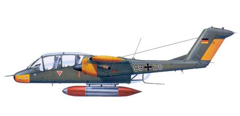 North American Rockwell OV-10B  alemán con base en Lubeck, 1980